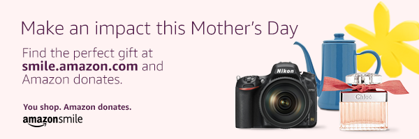 Amazon Smile Banner Mothers Day 2019